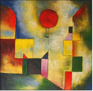 Red balloon poslany